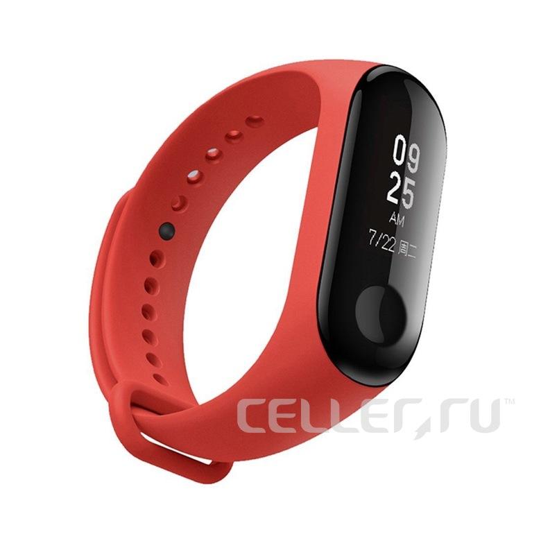 Ремешок для фитнес браслета Xiaomi Mi Band 3/4 (красный)