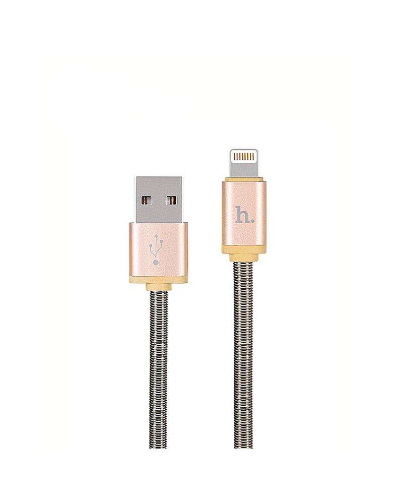 USB кабель HOCO (Original) U5 Metal для Apple 1,2 м. Цвет: Розовое золото