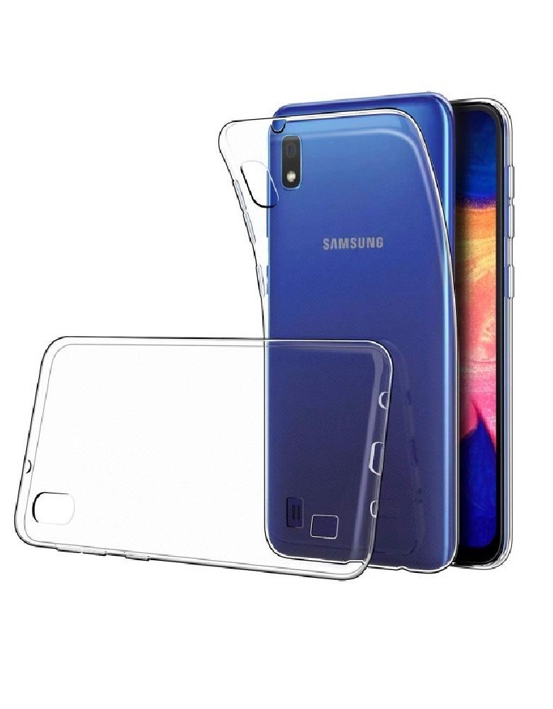 Чехол силиконовый для Samsung A10 прозрачный