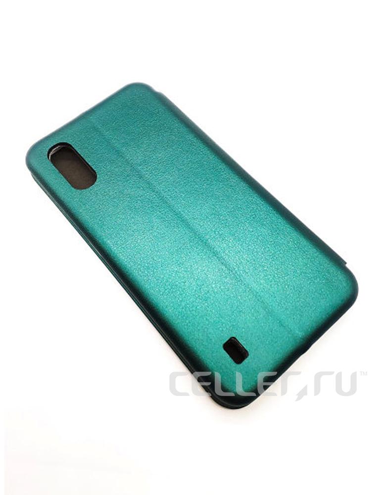 Чехол-книжка для Samsung Galaxy A01 темно-зеленый