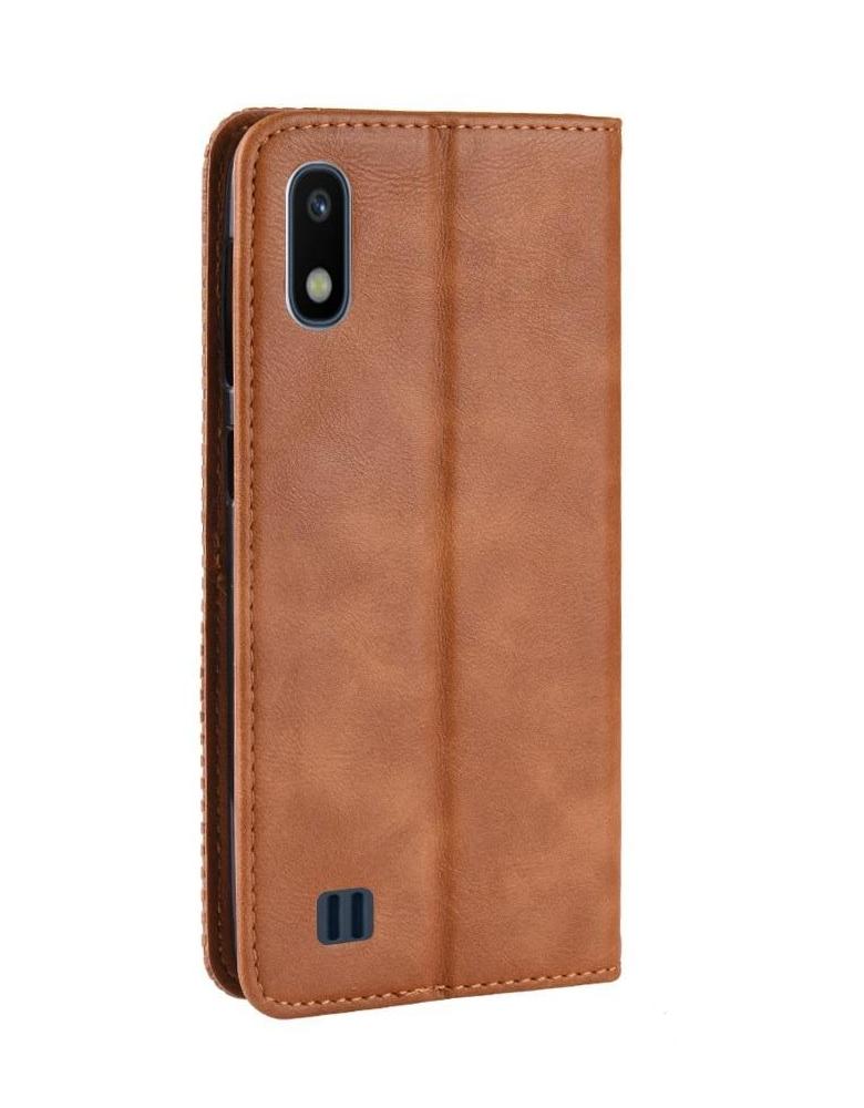 Чехол-книжка для Samsung Galaxy A10 коричневый