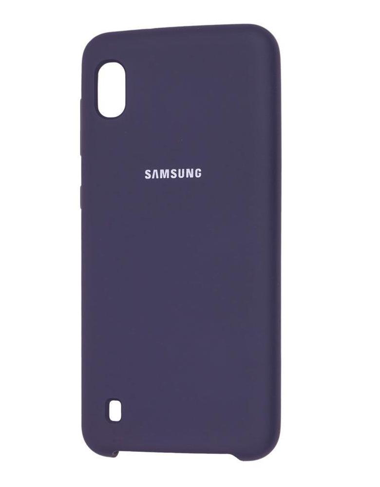 Чехол Silicone Cover для Samsung Galaxy A10 темно-синий