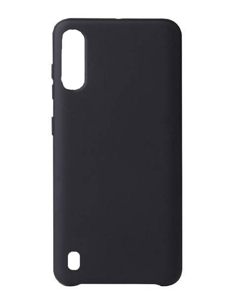 Чехол Silicone Cover для Samsung Galaxy A01 черный