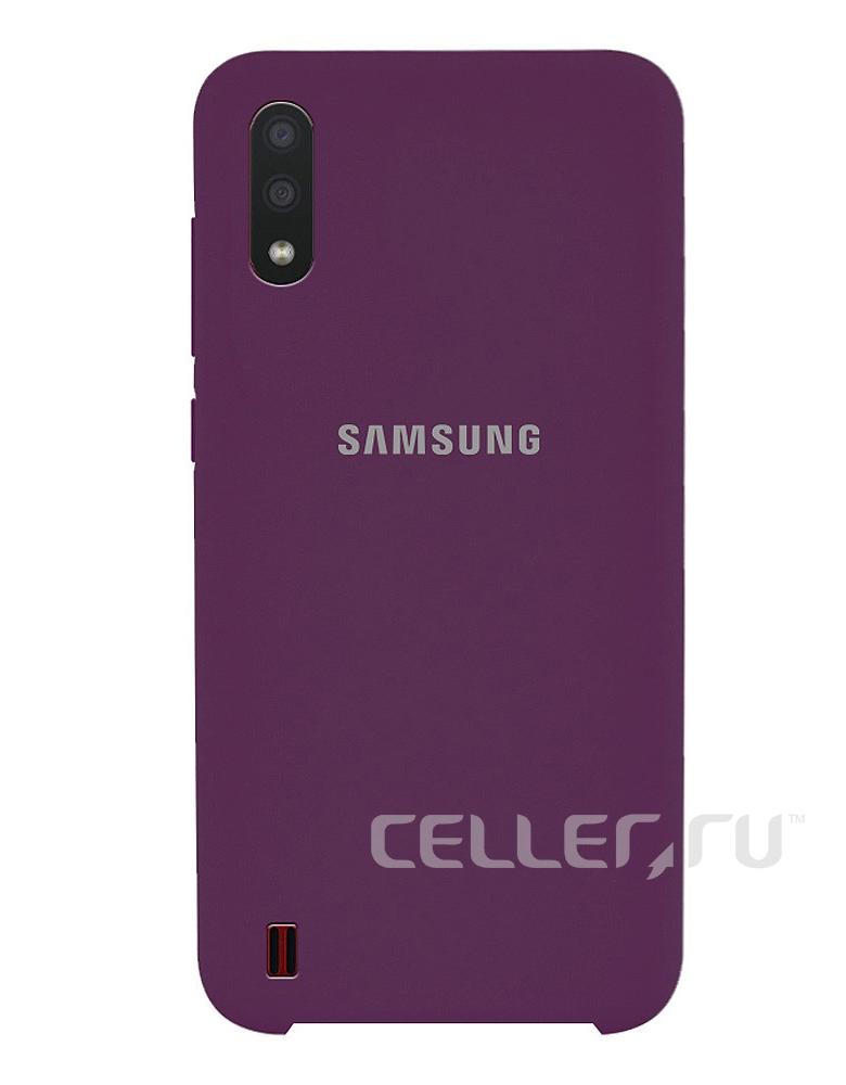Чехол Silicone Cover для Samsung Galaxy A01 фиолетовый