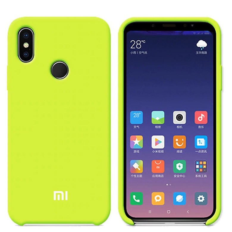 Silicone Cover для Xiaomi Redmi Note 5 (салатовый)