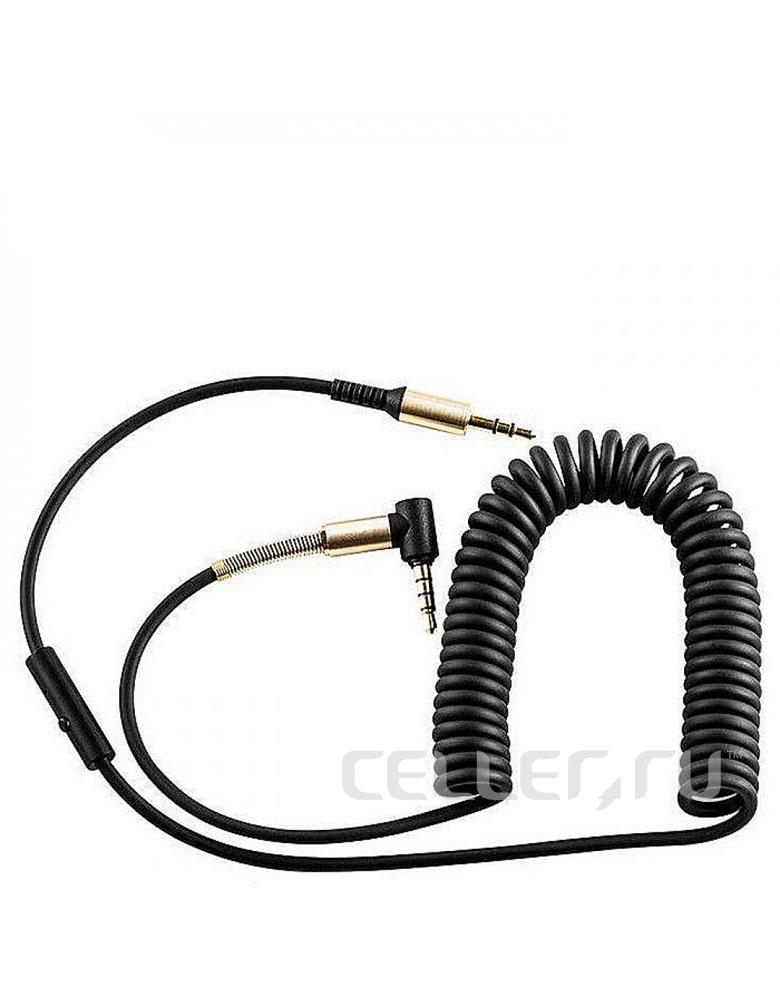 Кабель AUX с микрофоном HOCO(original) UPA02 Jack 3.5mm - Jack 3.5mm. Длина 2м. Цвет: Чёрный