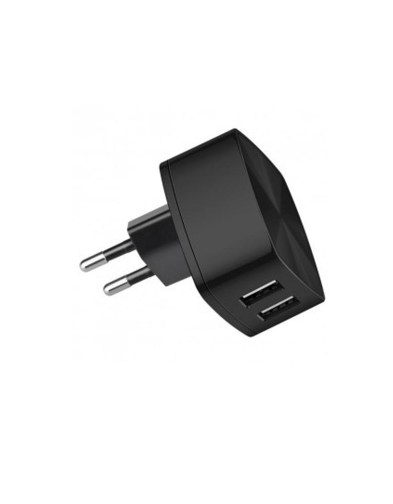 Зарядное устройство Hoco C26A Mighty Power Double-Port Charger цвет: черный