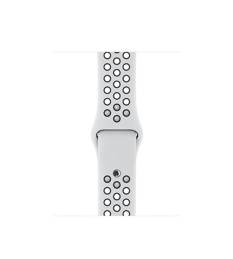 42mm Pure Platinum/Black Nike Sport Band