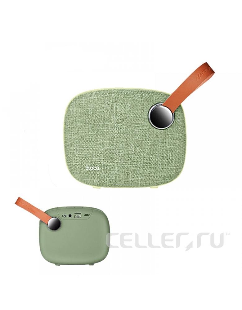 Портативная bluetooth колонка HOCO(original) BS8 Plain textile desktop Цвет: Зелёный