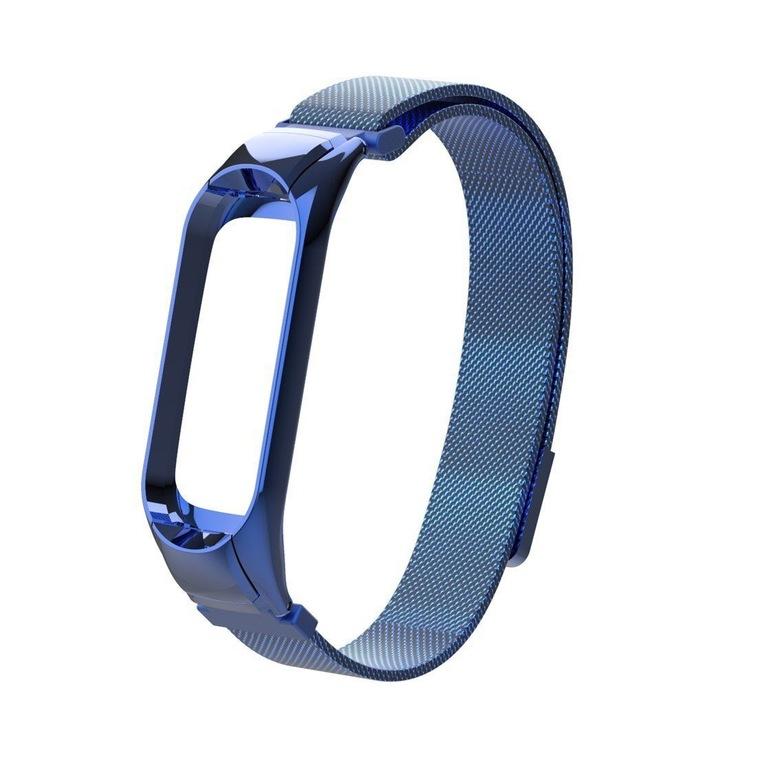Сетчатый браслет для Xiaomi Mi Band 3 (голубой)