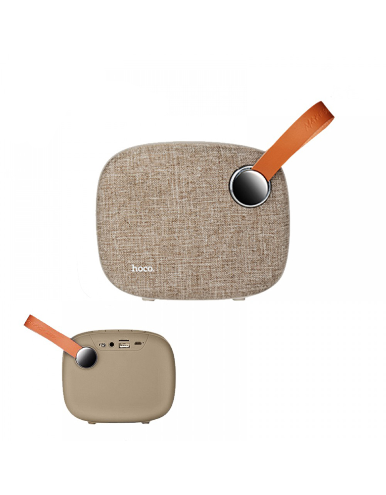 Портативная bluetooth колонка HOCO(original) BS8 Plain textile desktop Цвет: Коричневый