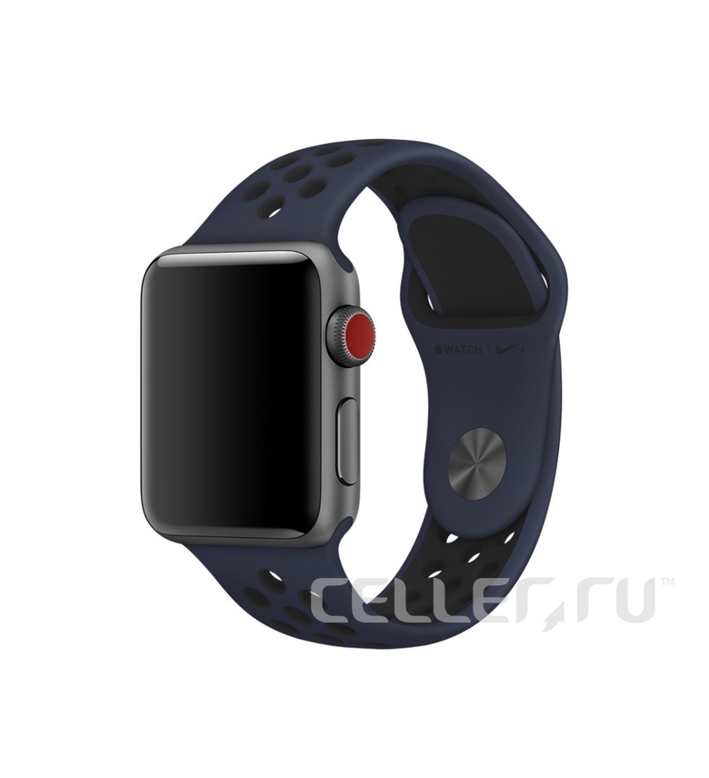 42mm Obsidian/Black Nike Sport Band