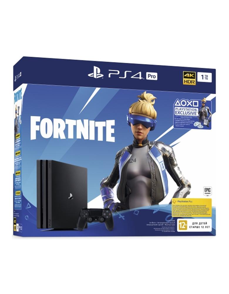 Игровая приставка PlayStation 4 Pro 1TB + Fortnite