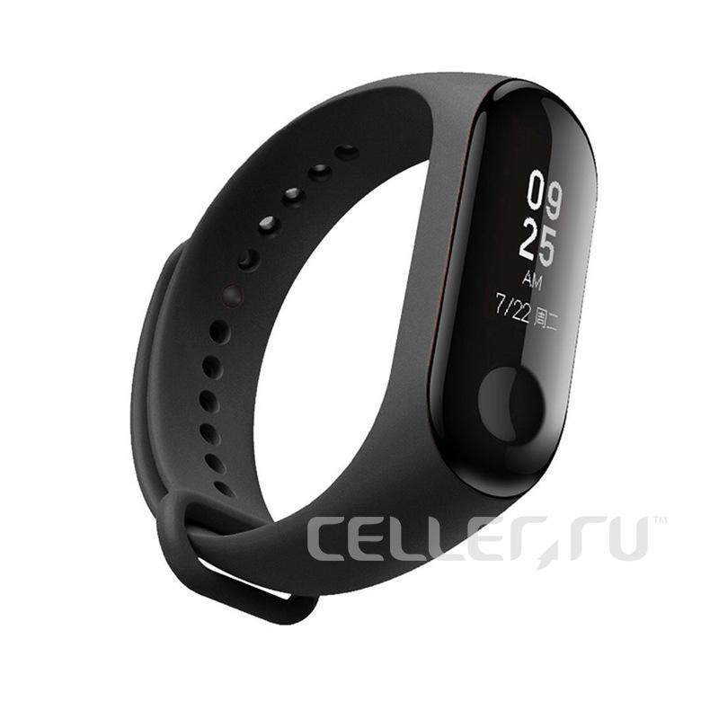 Ремешок для фитнес браслета Xiaomi Mi Band 3/4 (черный)