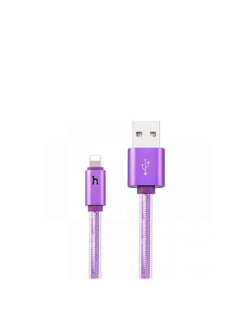 USB кабель HOCO (Origina)l UPL12 для Apple 2 м. Цвет: Фиолетовый