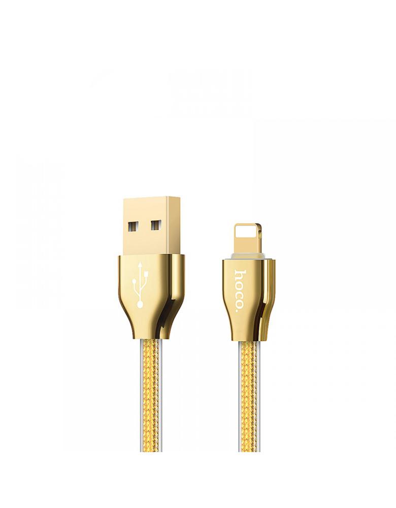 USB кабель HOCO (Original) X7 для Apple 1,2 м Цвет: Золотой