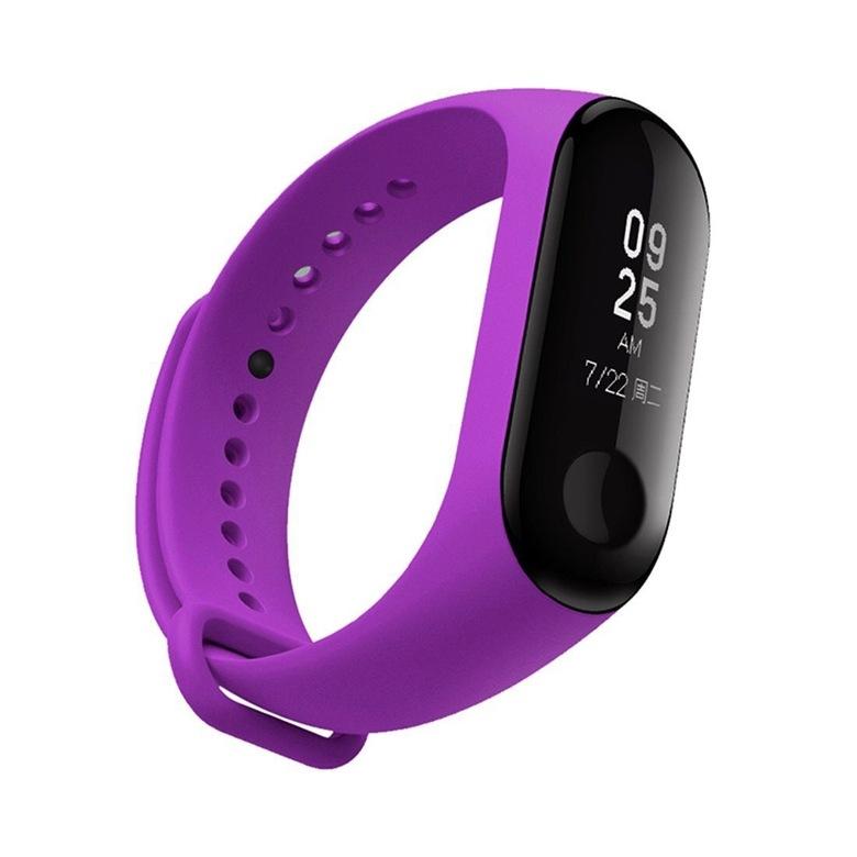 Ремешок для фитнес браслета Xiaomi Mi Band 3/4 (фиолетовый)