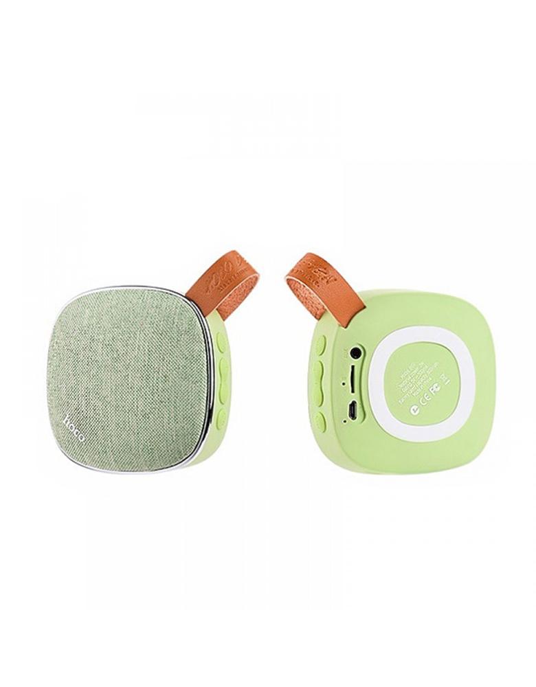 Портативная bluetooth колонка HOCO(original) BS9 Light textile desktop Цвет: Зелёный