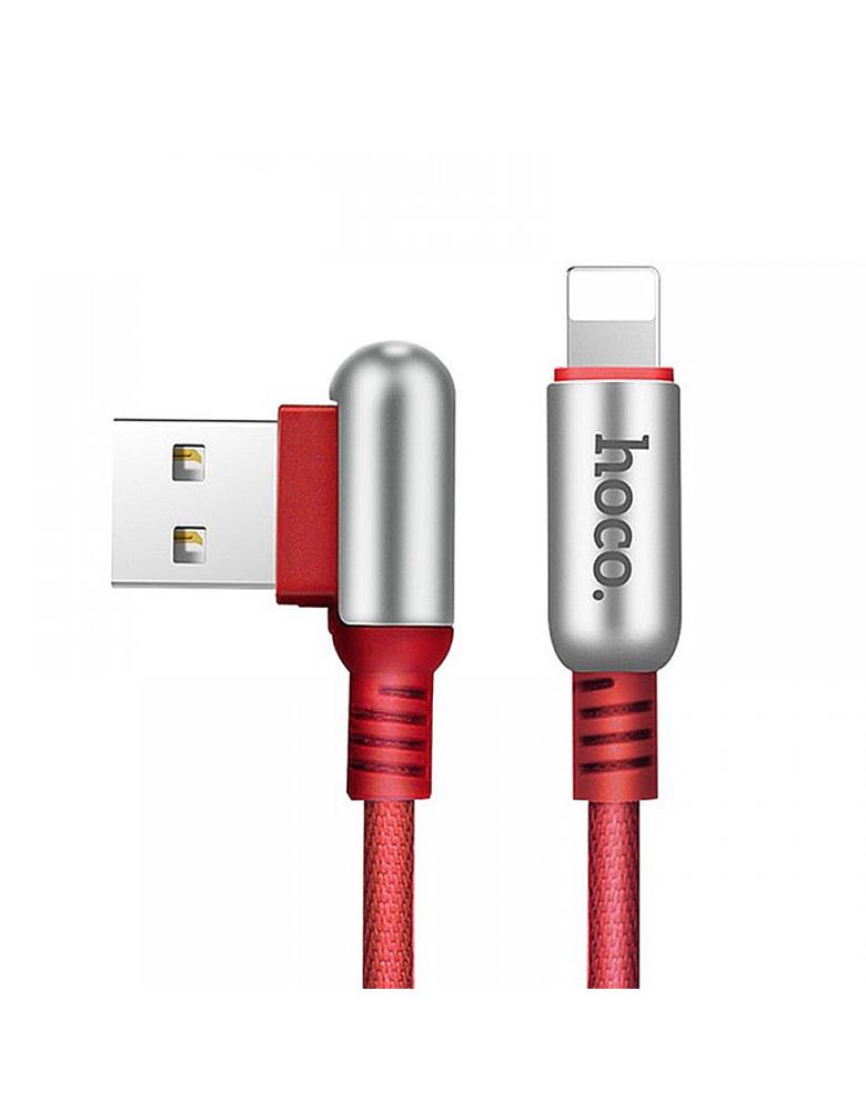 USB кабель HOCO (Original ) U17 для Apple 1,2 м Цвет: Красный