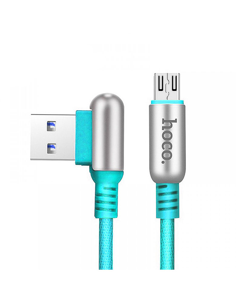 USB кабель micro HOCO (Original ) U17 1,2 м Цвет: Голубой