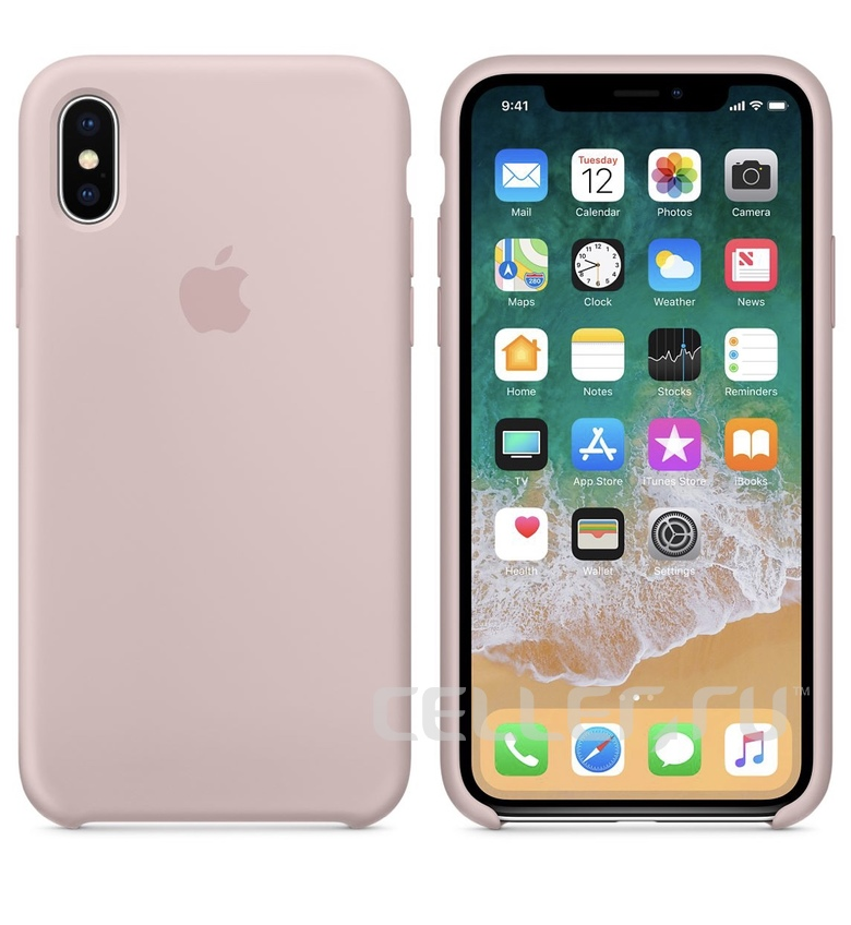 iPhone 8 Plus Silicone Case - Pink Sand