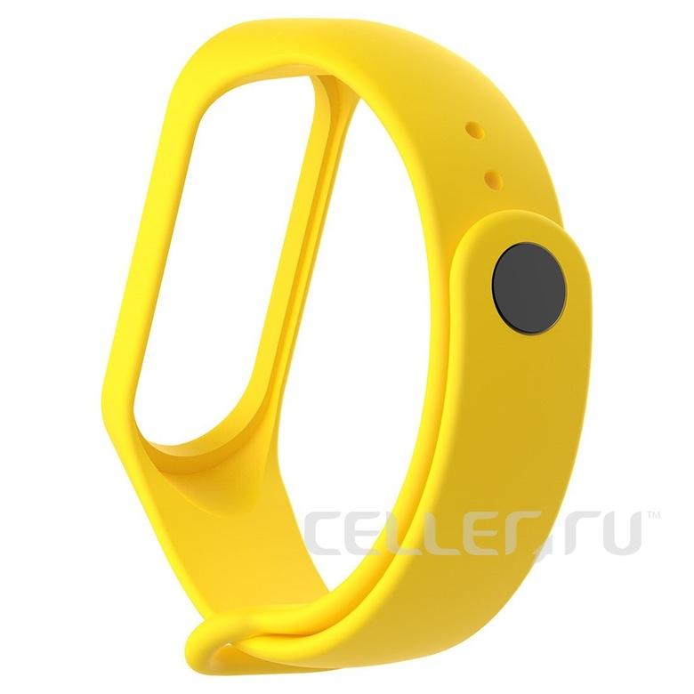 Ремешок для фитнес браслета Xiaomi Mi Band 3/4 (желтый)