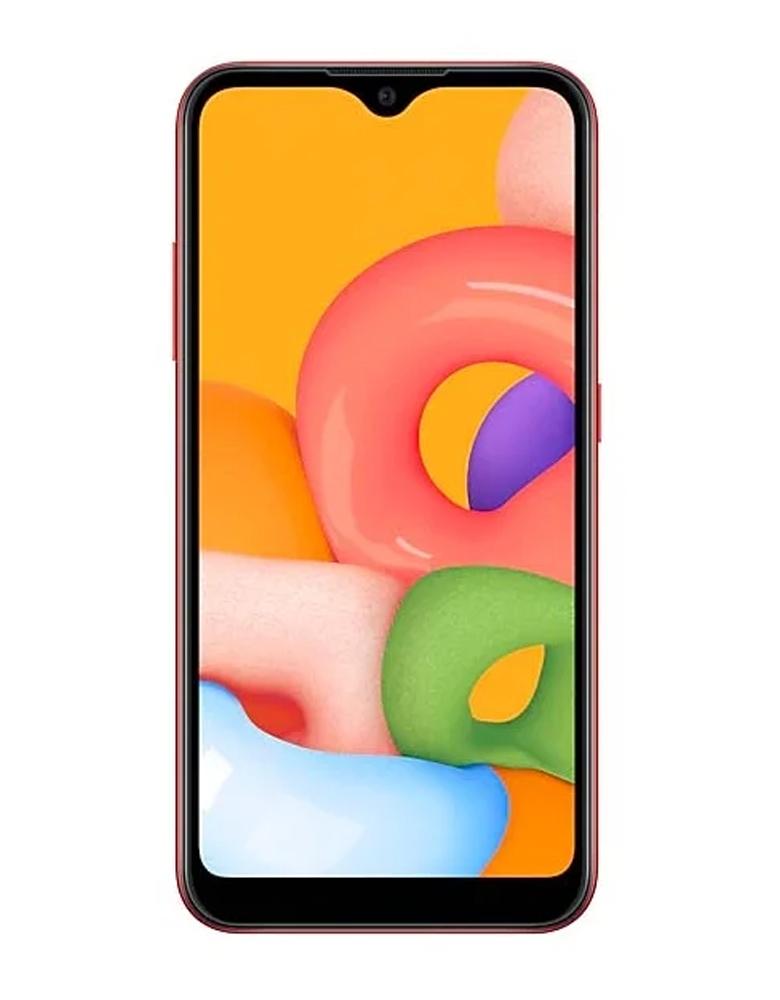 Смартфон Samsung Galaxy A01 красный
