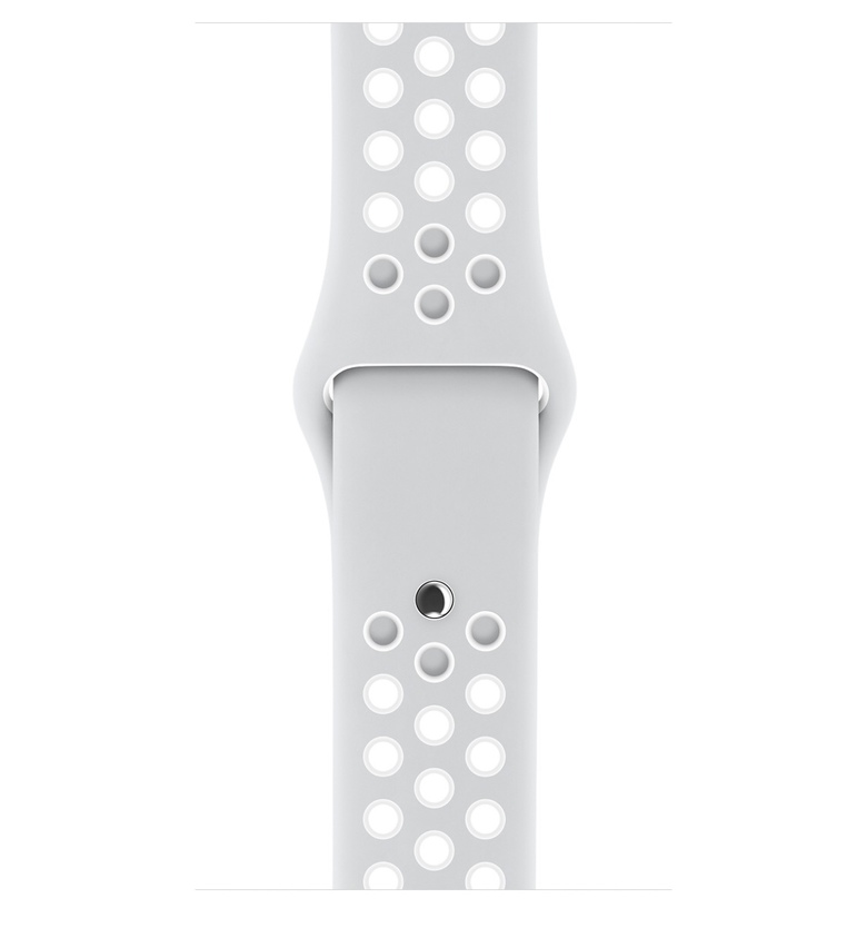 42mm Pure Platinum/White Nike Sport Band