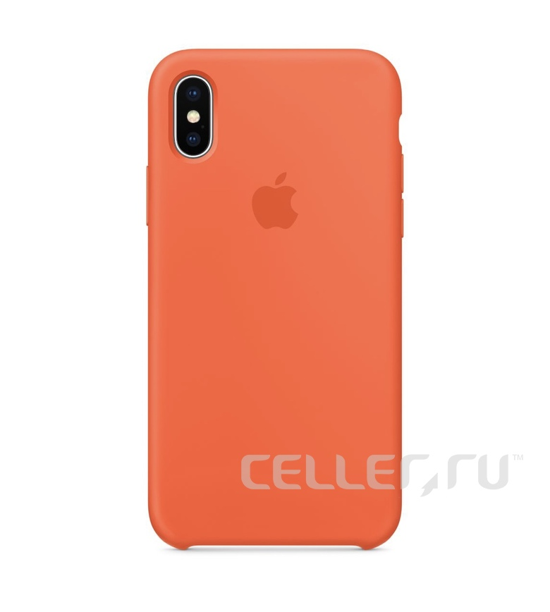 iPhone X Silicone Case - Spicy Orange