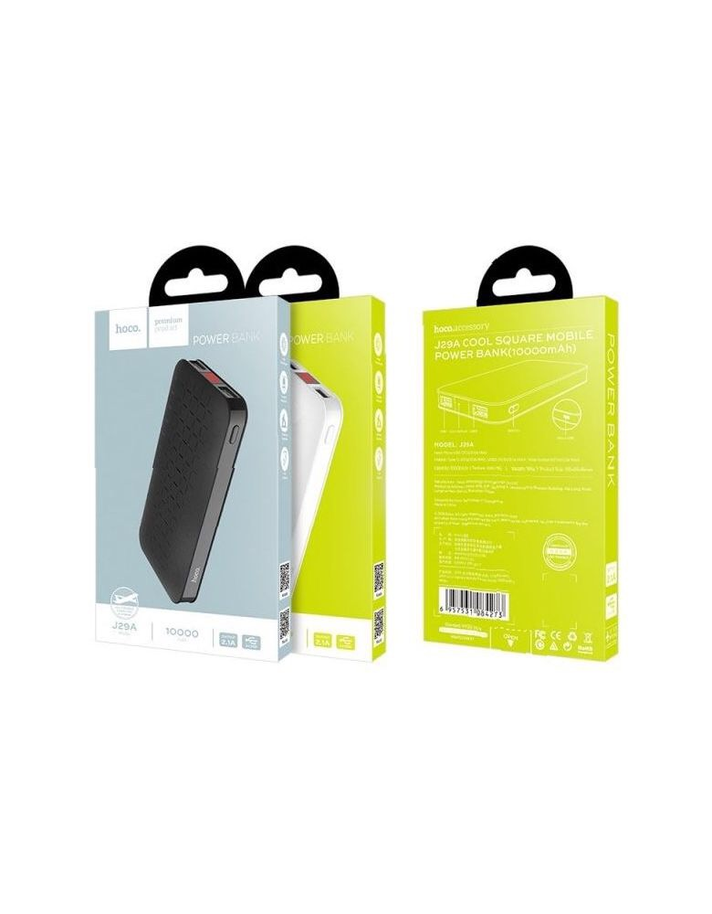 Аккумулятор Hoco J29A Cool square 10000 mAh