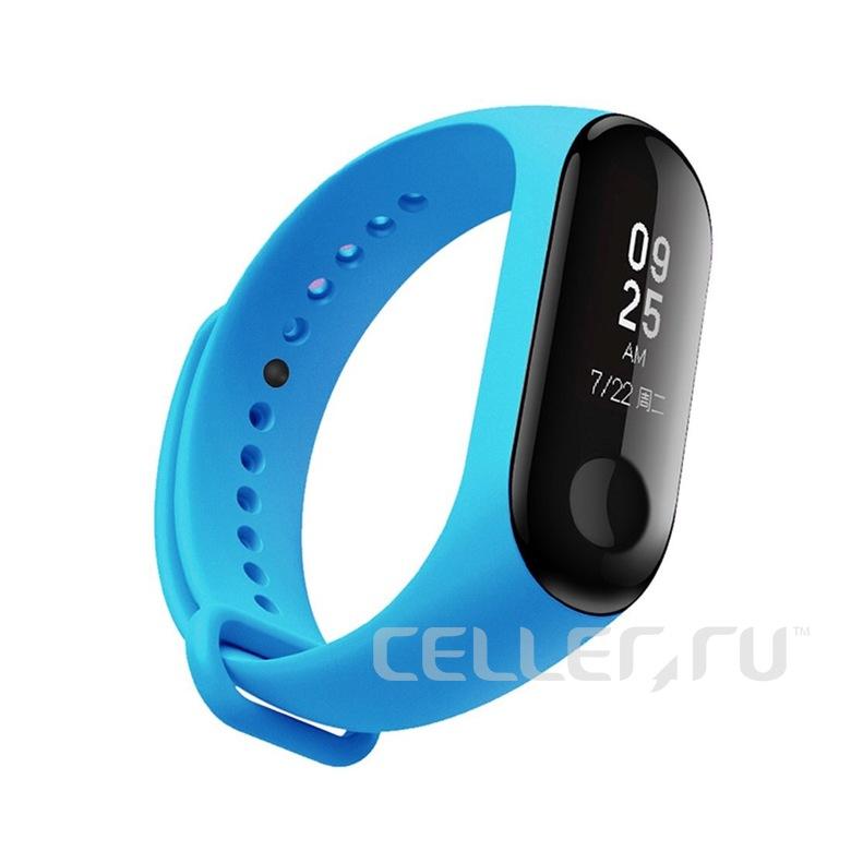 Ремешок для фитнес браслета Xiaomi Mi Band 3/4 (голубой)