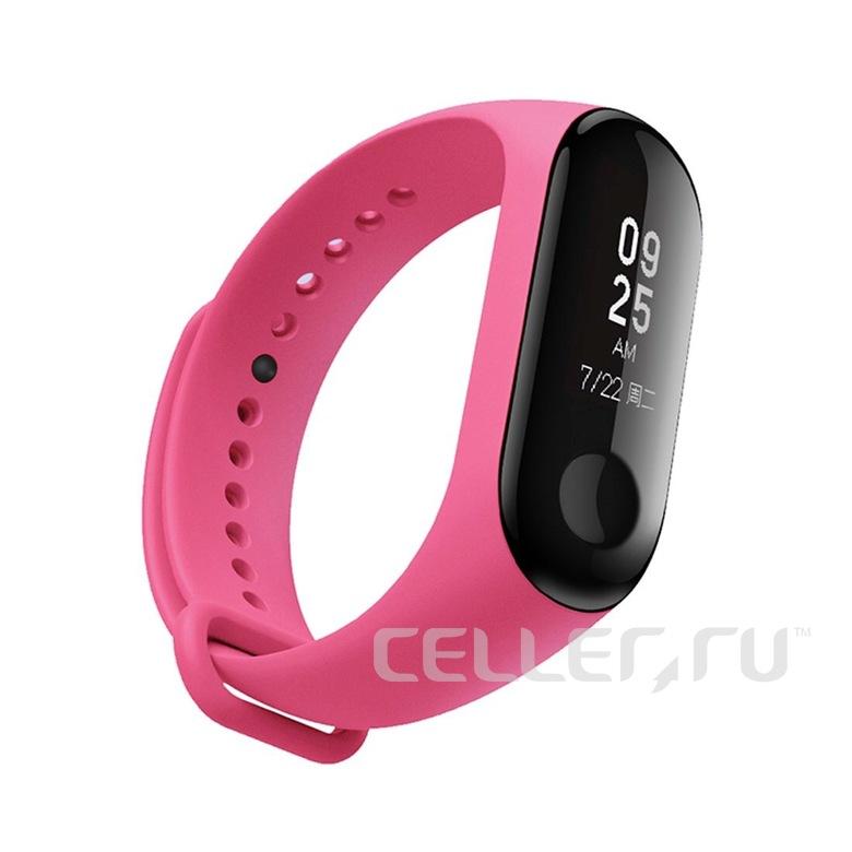 Ремешок для фитнес браслета Xiaomi Mi Band 3/4 (розовый)