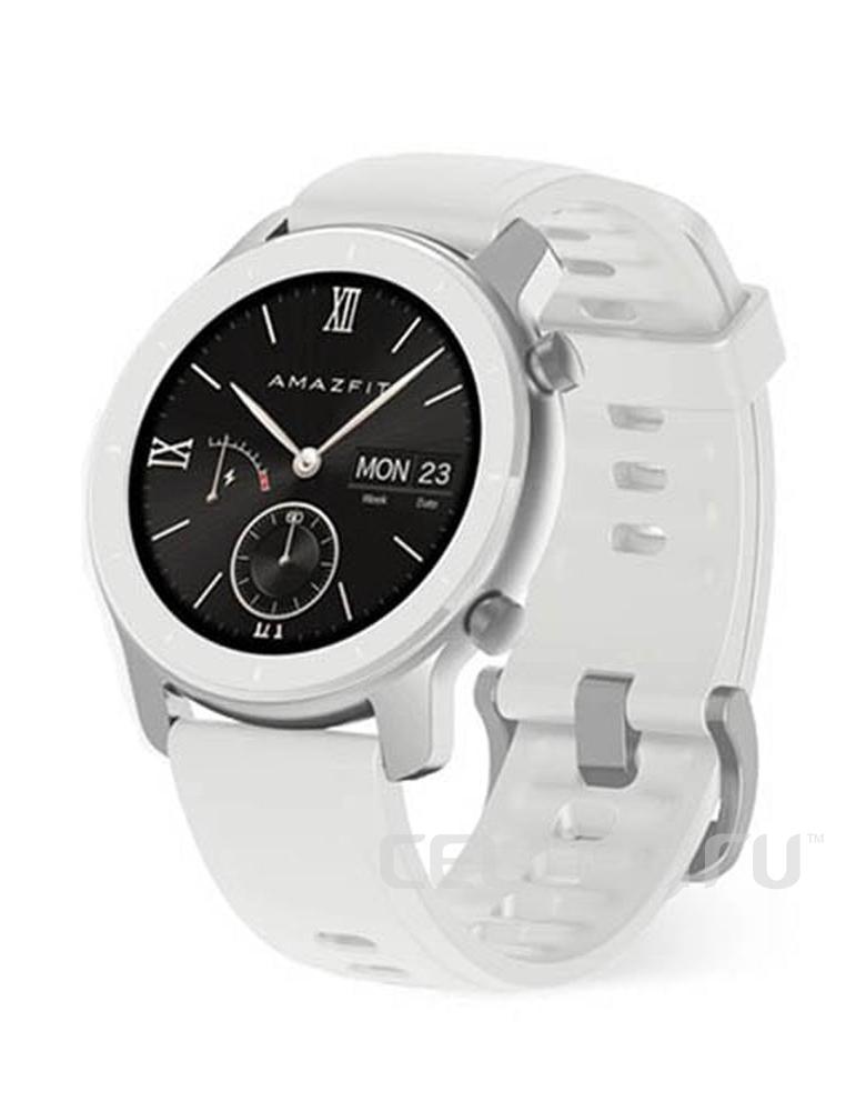 Часы Amazfit GTR 42mm aluminium case, silicone strap Белые