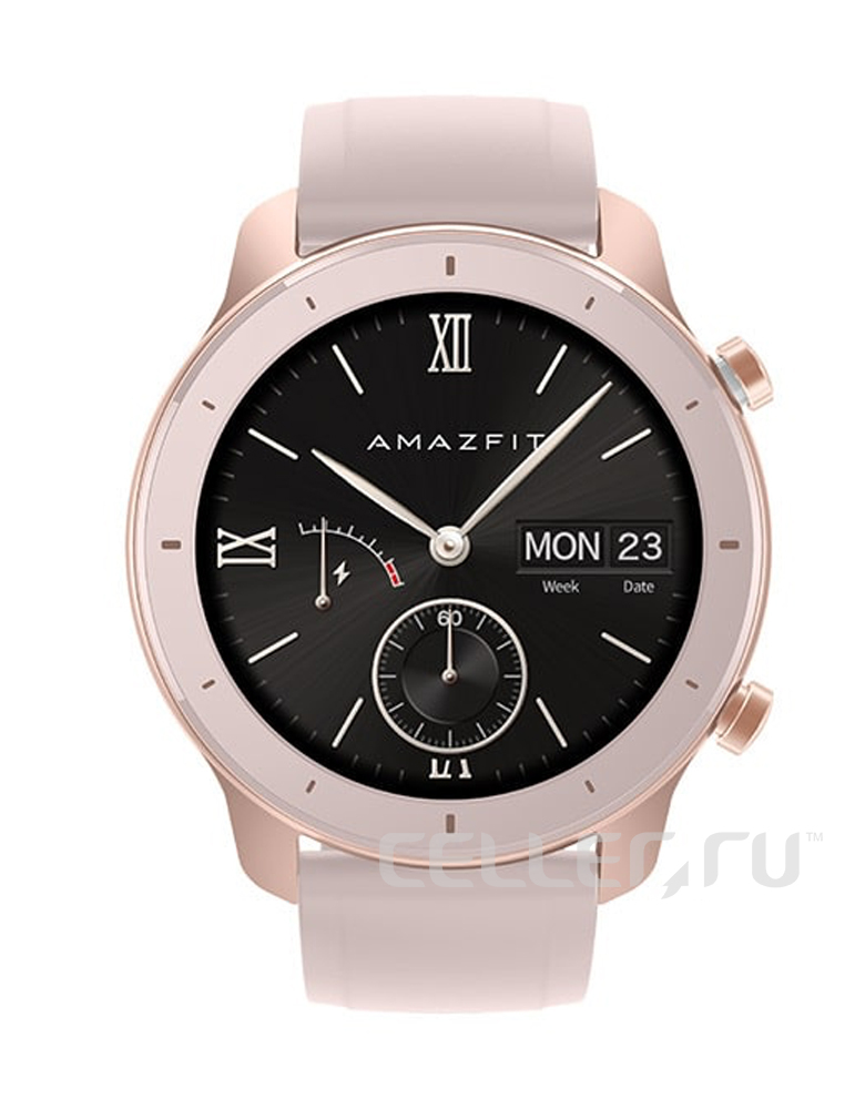 Часы Amazfit GTR 42mm aluminium case, silicone strap Золотистые