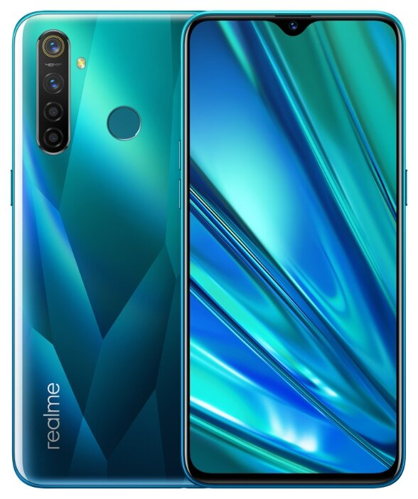 Смартфон realme 5 Pro 128GB зеленый кристалл
