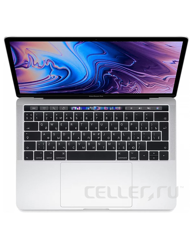 "Ноутбук Apple MacBook Pro 13 with Retina display and Touch Bar Mid 2019 (Intel Core i5 2400 MHz/13.3""/2560x1600/8GB/512GB SSD/DVD нет/Intel Iris Plus Graphics 655/Wi-Fi/Bluetooth/macOS) Silver"