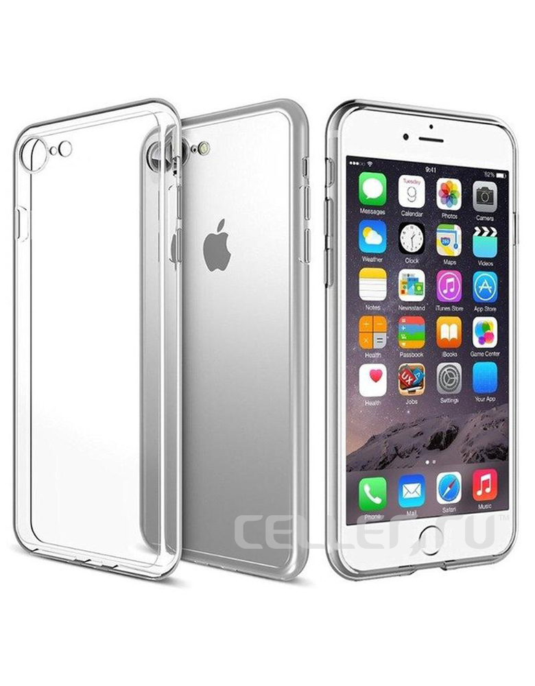 Чехол iPhone 7/8 Прозрачный Силиконовый
