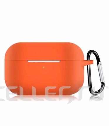 Силиконовый чехол для Apple AirPods Pro оранжевый