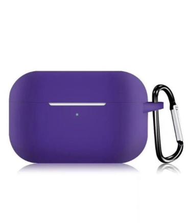 Силиконовый чехол для Apple AirPods Pro фиолетовый
