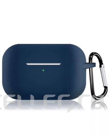 Силиконовый чехол для Apple AirPods Pro темно-синий