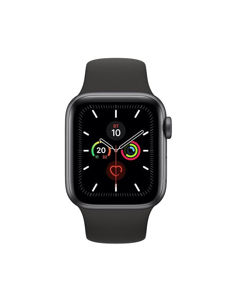 Часы Apple Watch Series 5 GPS 44mm Aluminum Case with Sport Band, корпус из алюминия цвета «серый космос», спортивный ремешок черного цвета