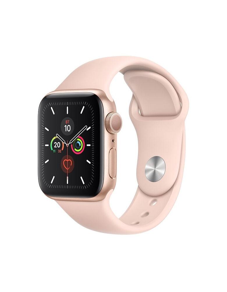 Часы Apple Watch Series 5 GPS 40mm Aluminum Case with Sport Band, корпус из алюминия золотого цвета, спортивный ремешок цвета «Розовый песок»